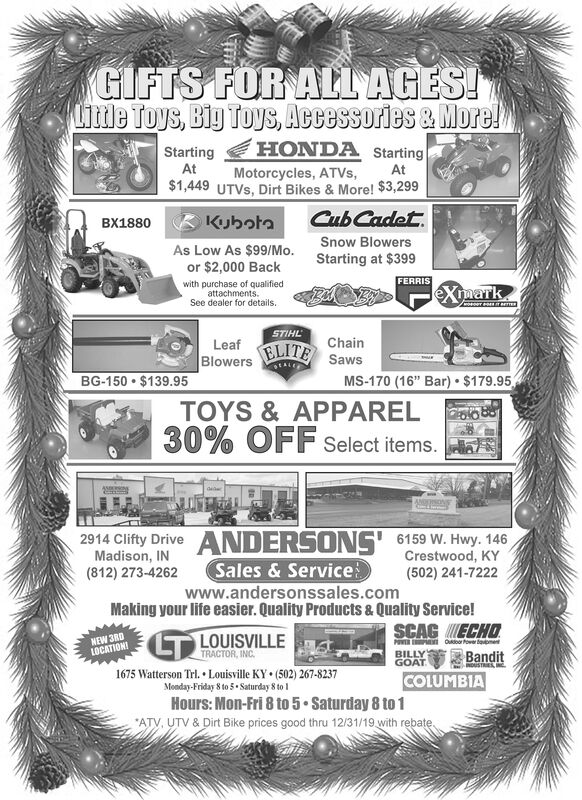 THURSDAY, DECEMBER 19, 2019 Ad - Andersons' Sales And ...