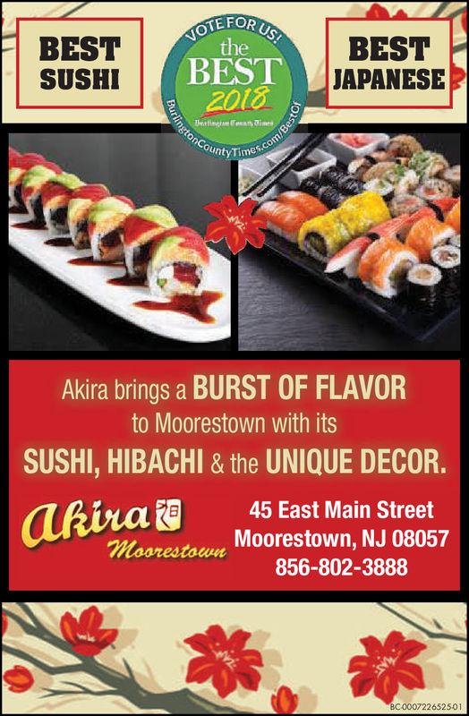 Friday June 22 2018 Ad Akira Moorestown Burlington County Times