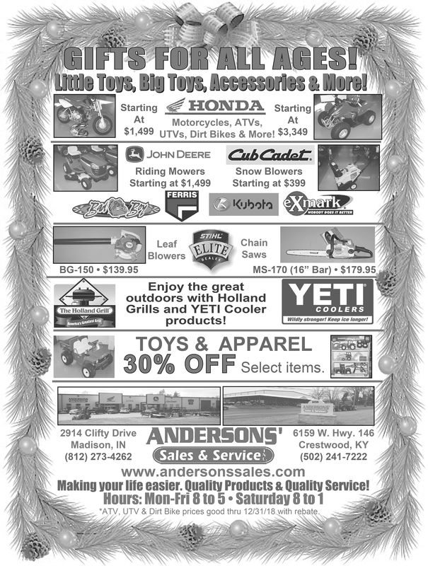 SATURDAY, DECEMBER 8, 2018 Ad - Andersons' Sales And ...