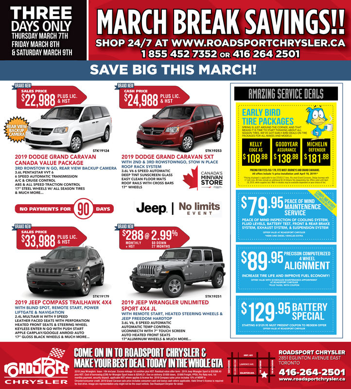 THURSDAY, MARCH 7, 2019 Ad - Roadsport Chrysler Dodge Jeep - Toronto